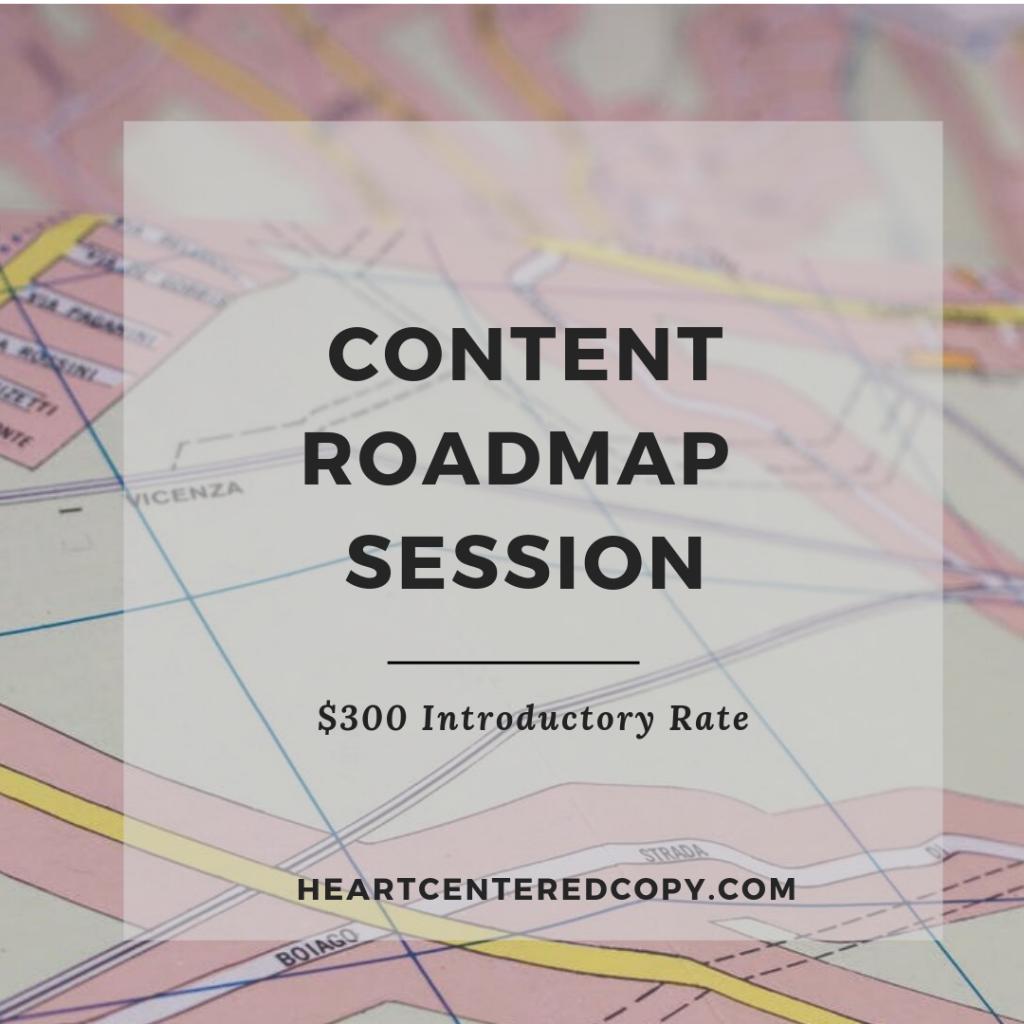 content roadmap session