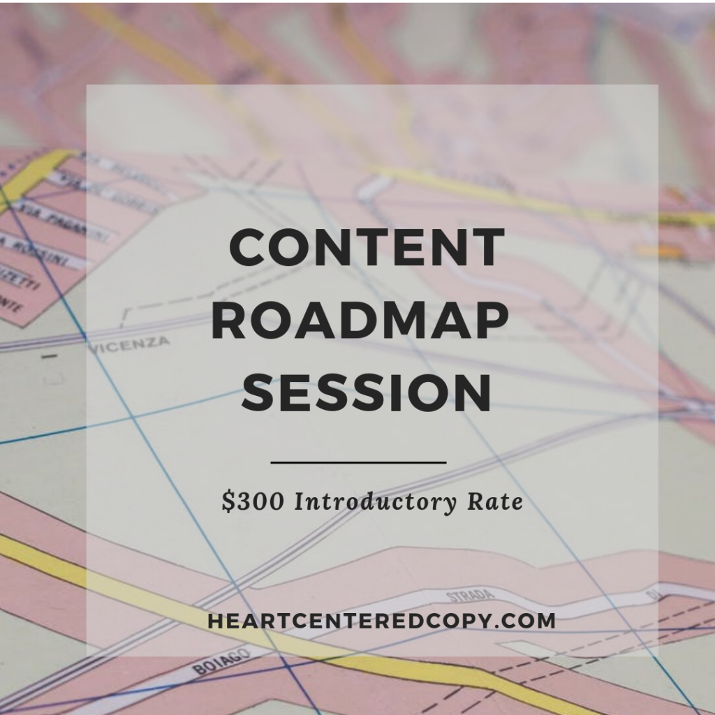 content roadmap session